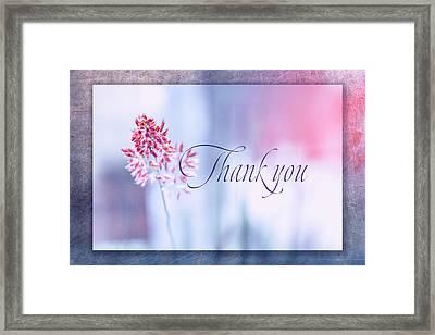 Thank You 1 Framed Print