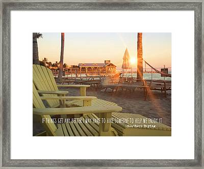 That Morning Light Quote Framed Print by JAMART Photography