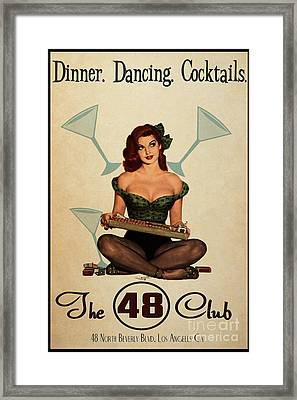 The 48 Club Framed Print by Cinema Photography