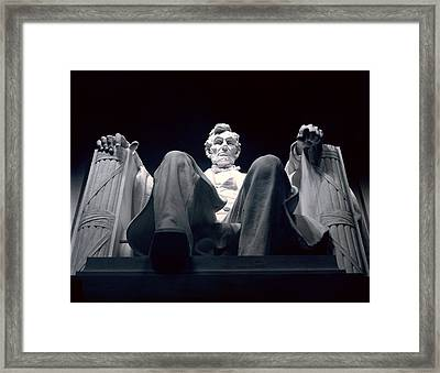 The Abraham Lincoln Statue Framed Print by Rex A. Stucky