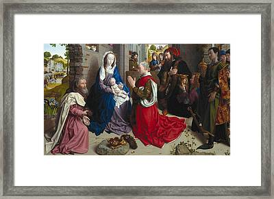 The Adoration Of The Kings Framed Print by Hugo van der Goes