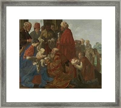 The Adoration Of The Magi Framed Print by Hendrick ter Brugghen