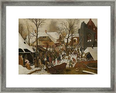 The Adoration Of The Magi Framed Print by Pieter Brueghel the Younger