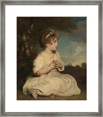 The Age Of Innocence Framed Print by Joshua Reynolds