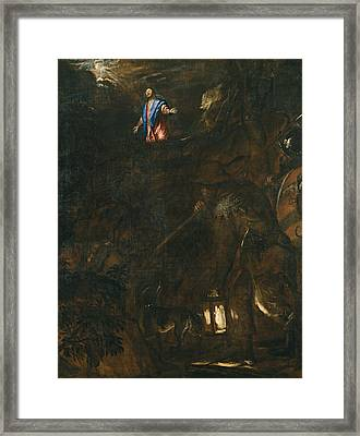 The Agony In The Garden Framed Print by Titian