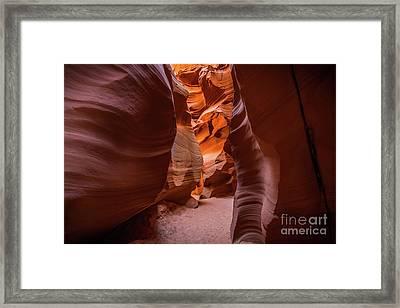 The Amazing Antelope Slot Canyons In Arizona, Usa. Framed Print