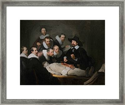 The Anatomy Lesson Of Dr. Nicolaes Tulp Framed Print by Rembrandt