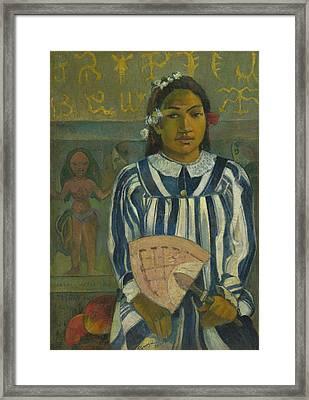 The Ancestors Of Tehamana Framed Print by Paul Gauguin