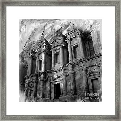 The Ancient Treasury Petra Framed Print