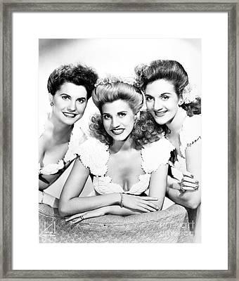 The Andrews Sisters Framed Print by Granger