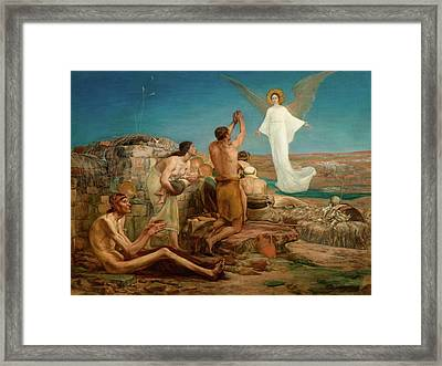 The Angel Appearing Before The Shepherds Framed Print by MotionAge Designs