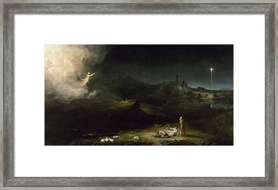 The Angel Appearing To The Shepherds Framed Print