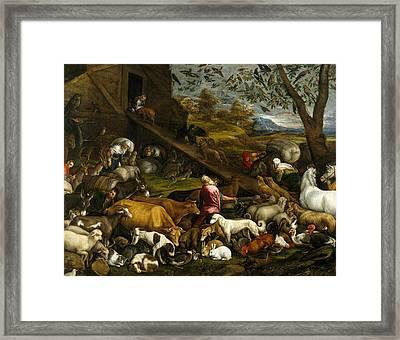 The Animals Entering Noah's Ark Framed Print