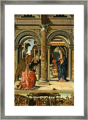 The Annunciation Framed Print by Francesco del Cossa