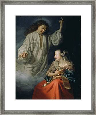 The Annunciation Framed Print by Godfried Schalcken