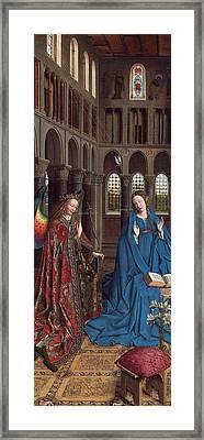 The Annunciation Framed Print by Jan van Eyck