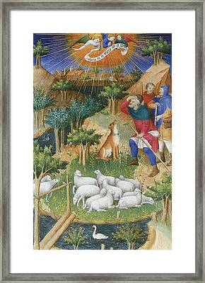 The Annunciation To The Shepherds Framed Print by Boucicaut Master