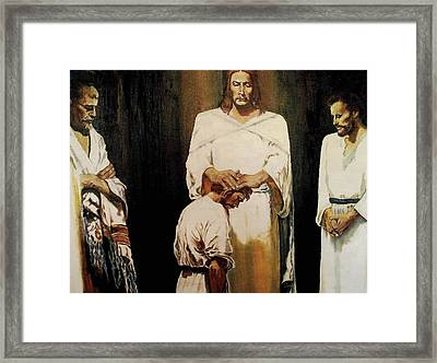The Anointing Framed Print