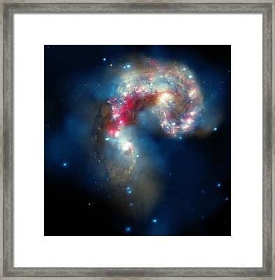 The Antennae Galaxies Framed Print by American School