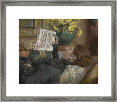 The Artist's Wife Reading Framed Print