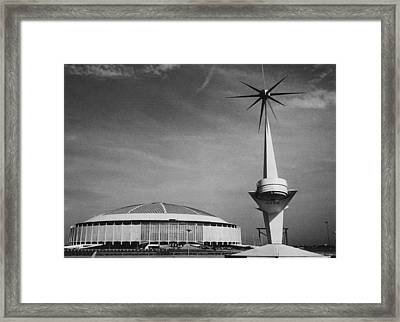 The Astrodome Aka The Eighth Wonder Framed Print by Everett
