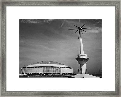 The Astrodome Aka The Eighth Wonder Framed Print by Everett