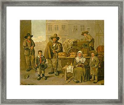 The Baker's Cart Framed Print by Jean Michelin