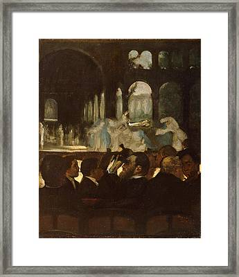 Framed Print featuring the painting The Ballet From Robert Le Diable by Edgar Degas