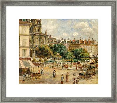 The Banks Of The Seine At Bougival Framed Print