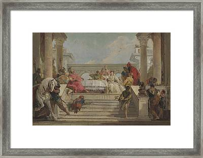 The Banquet Of Cleopatra Framed Print
