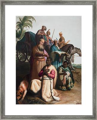 The Baptism Of The Eunuch Framed Print by Rembrandt