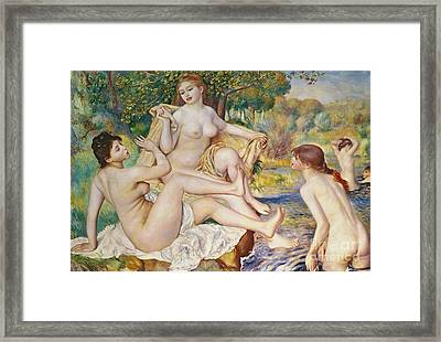The Bathers Framed Print by Pierre Auguste Renoir