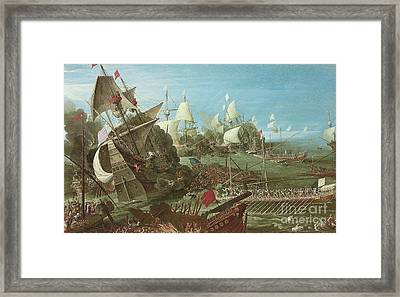 The Battle Of Lepanto Framed Print