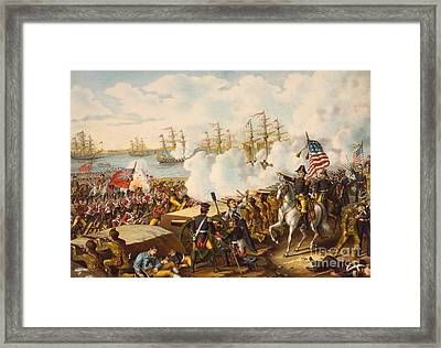 The Battle Of New Orleans Framed Print by American School