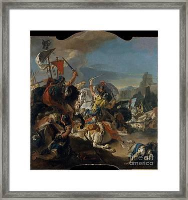 The Battle Of Vercellae  Framed Print by Celestial Images