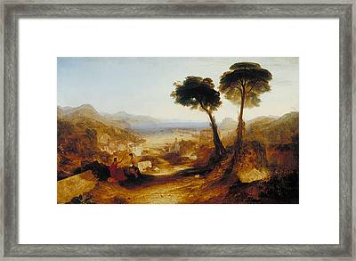The Bay Of Baiae, With Apollo And The Sibyl Framed Print