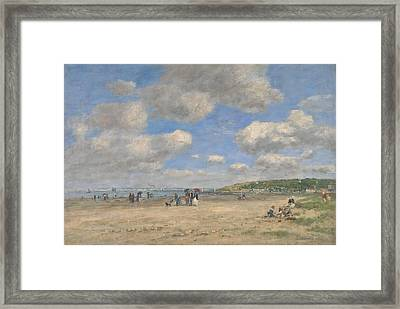 The Beach At Tourgeville Les Sablons Framed Print