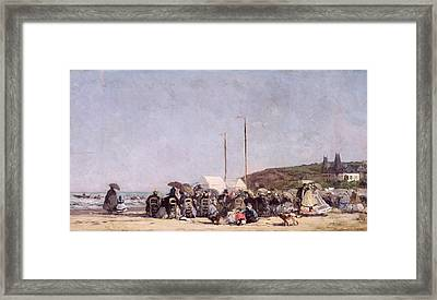 The Beach At Trouville Framed Print