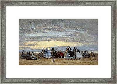 The Beach At Villerville Framed Print