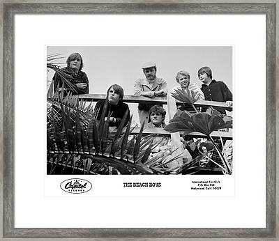 The Beach Boys 1966 Framed Print by The Titanic Project