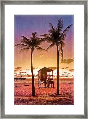 The Beach Framed Print by Debra and Dave Vanderlaan