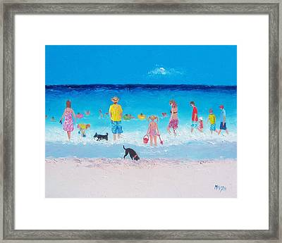The Beach Parade Framed Print