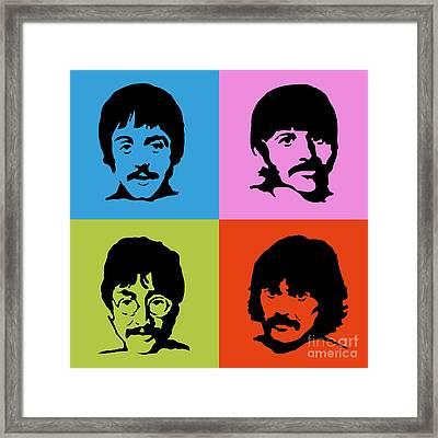 The Beatles Colors Framed Print by Caio Caldas
