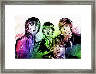 The Beatles Framed Print by Russell Pierce