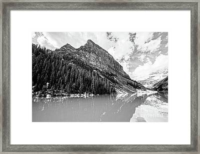 The Beauty Of Lake Louise Bw Framed Print