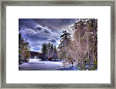 The Beaver Brook Boathouse Framed Print
