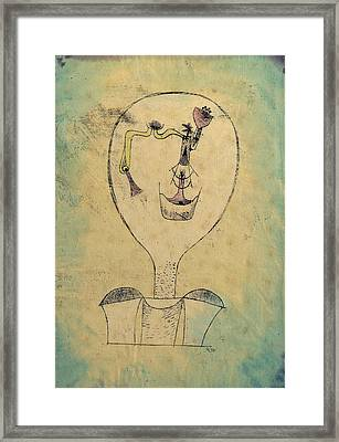 The Beginnings Of A Smile Framed Print by Paul Klee