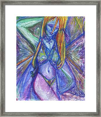 The Belly Dancer Framed Print by Sarah Crumpler