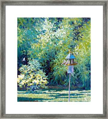 The Bird Feeder Framed Print by Kevin Lawrence Leveque