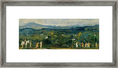 The Birth Of The Green Framed Print by Arthur Bowen Davies
